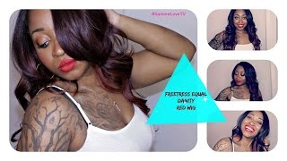 Freetress Equal Danity Brazilian Natural  L-Part Lace Wig Review ft Lovely Lasean