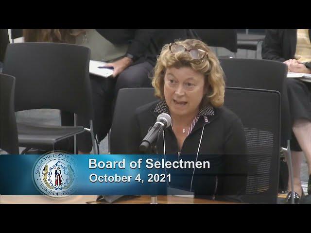 Board of Selectmen 10-4-21