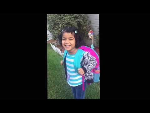 Isabel first day to preschool Oct 09 2017 @ Allen early learning academy Plymouth Michigan