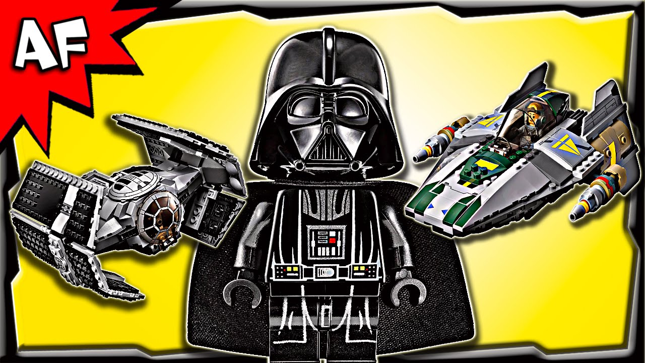 Lego Star Wars Vaders Tie Advanced Vs A Wing Starfighter 75150 75157 Captain Rexamp039s At Te Stop Motion Build Review