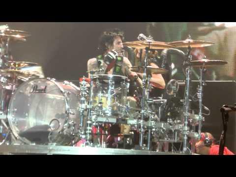 """Tommy Lee Roller Coaster Drum Set"" Motley Crue@Susquehanna Bank Center, Camden, NJ 9/19/12"