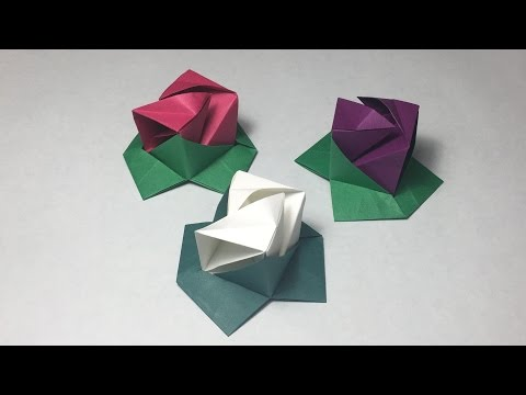Origami Rose Cube/ Instructions