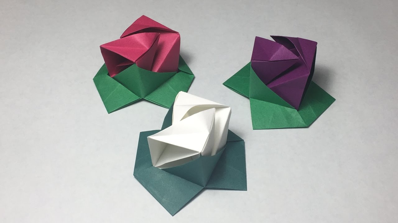 Origami Rose Cube Instructions