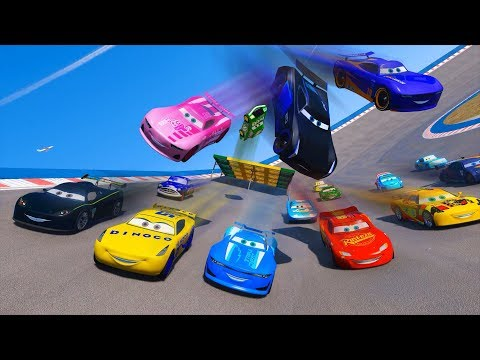 Race Cars 3 McQueen Cam Spinner Rich Mixon Jackson Storm Cruz Ramirez Lewis Hamilton King & Friends
