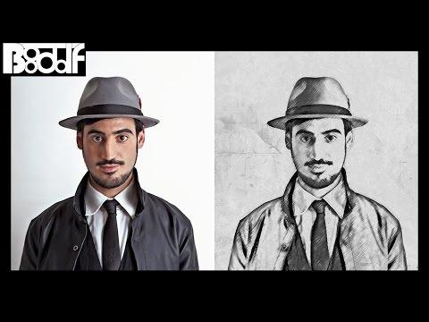 تحويل الصوره الى رسم بقلم الرصاص Photoshop Cs6 Cc Youtube