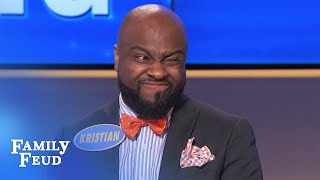YOU DECIDE! Did Kristian have a hand in this answer? | Family Feud