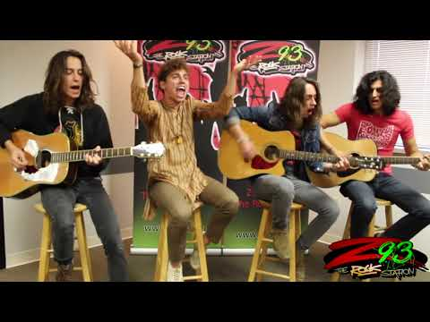 Greta Van Fleet Performs 'Black Smoke Rising' at the Z93 Studios