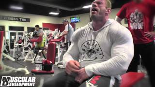 Dennis Wolf Trains Shoulders | 2014 Arnold Classic Prep