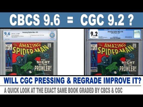 CBCS 9.6 = CGC 9.2 ?  Compare Comic Book Grading - Comic Book Pressing Review - 4K
