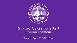 Spring 2020 Commencement | April 20 3pm