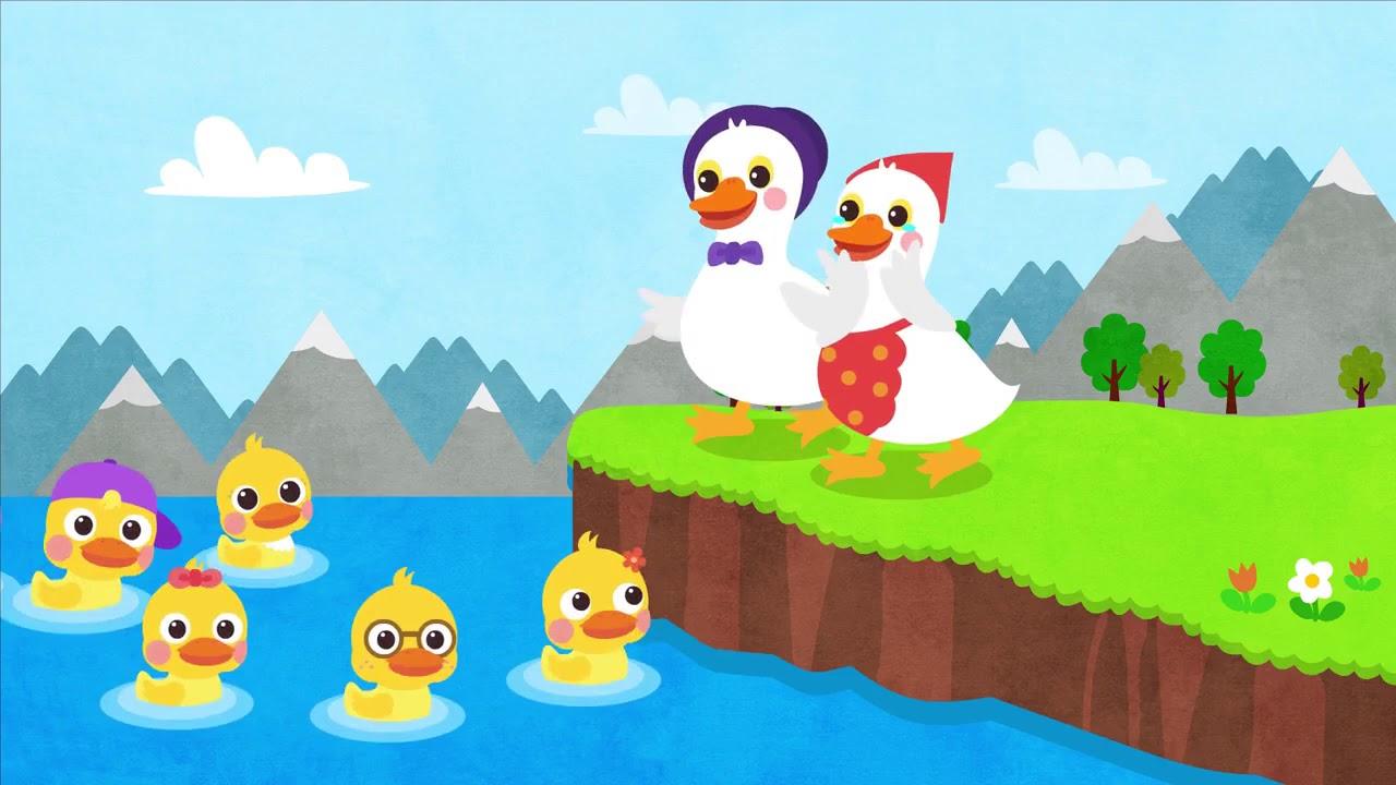 Six Little Ducks I Nursery Rhymes I Kids Songs | Songs for Kids | Simple Cartoon Songs