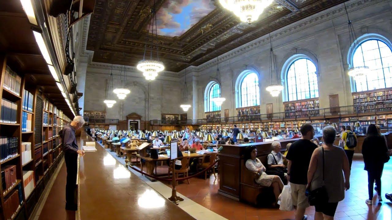 ⁴ᴷ Walking Tour of The New York Public Library Main Branch (Stephen A   Schwarzman Building)