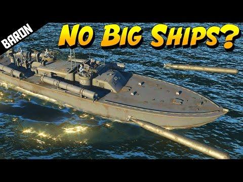 No BIG SHIPS in War Thunder Ships? PT-109 Preview (War Thunder Naval Footage)