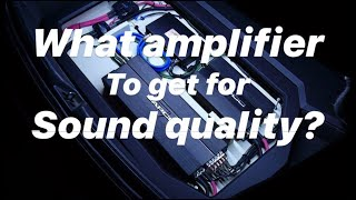 SQ in Cars - PART 6 - What amplifier to get?
