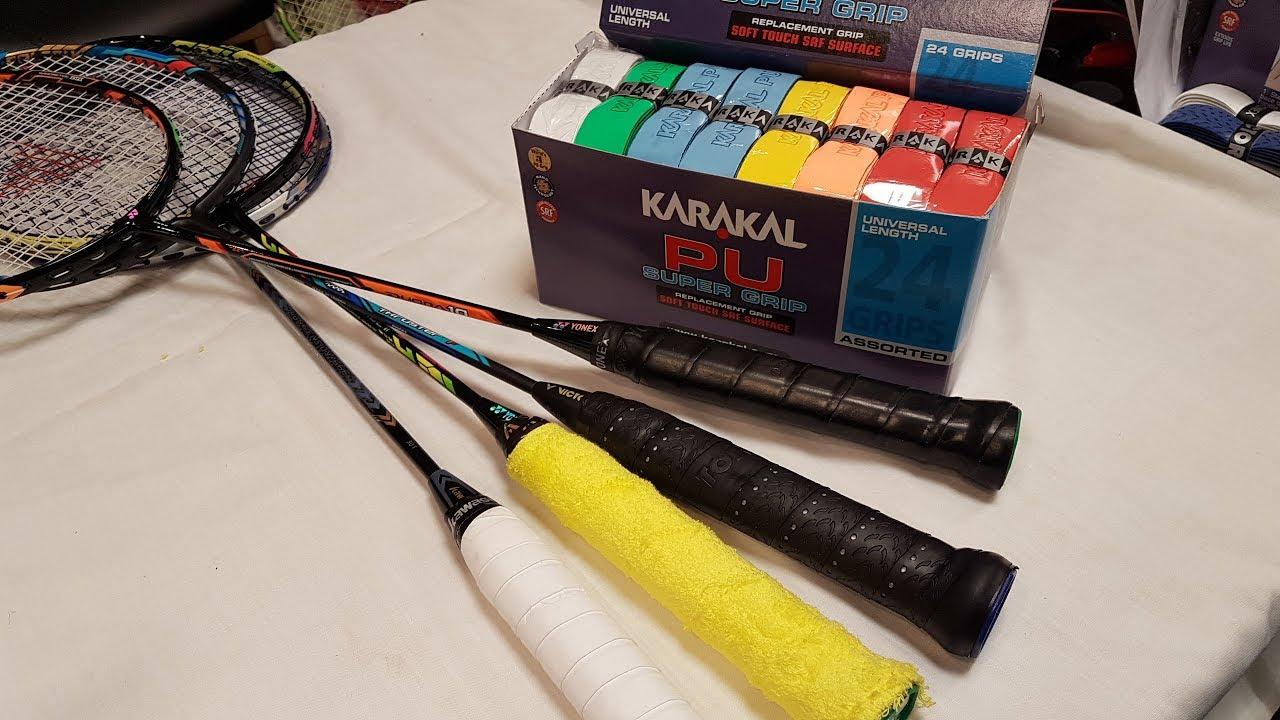 How to grip a Badminton racket - 4 ways - YouTube