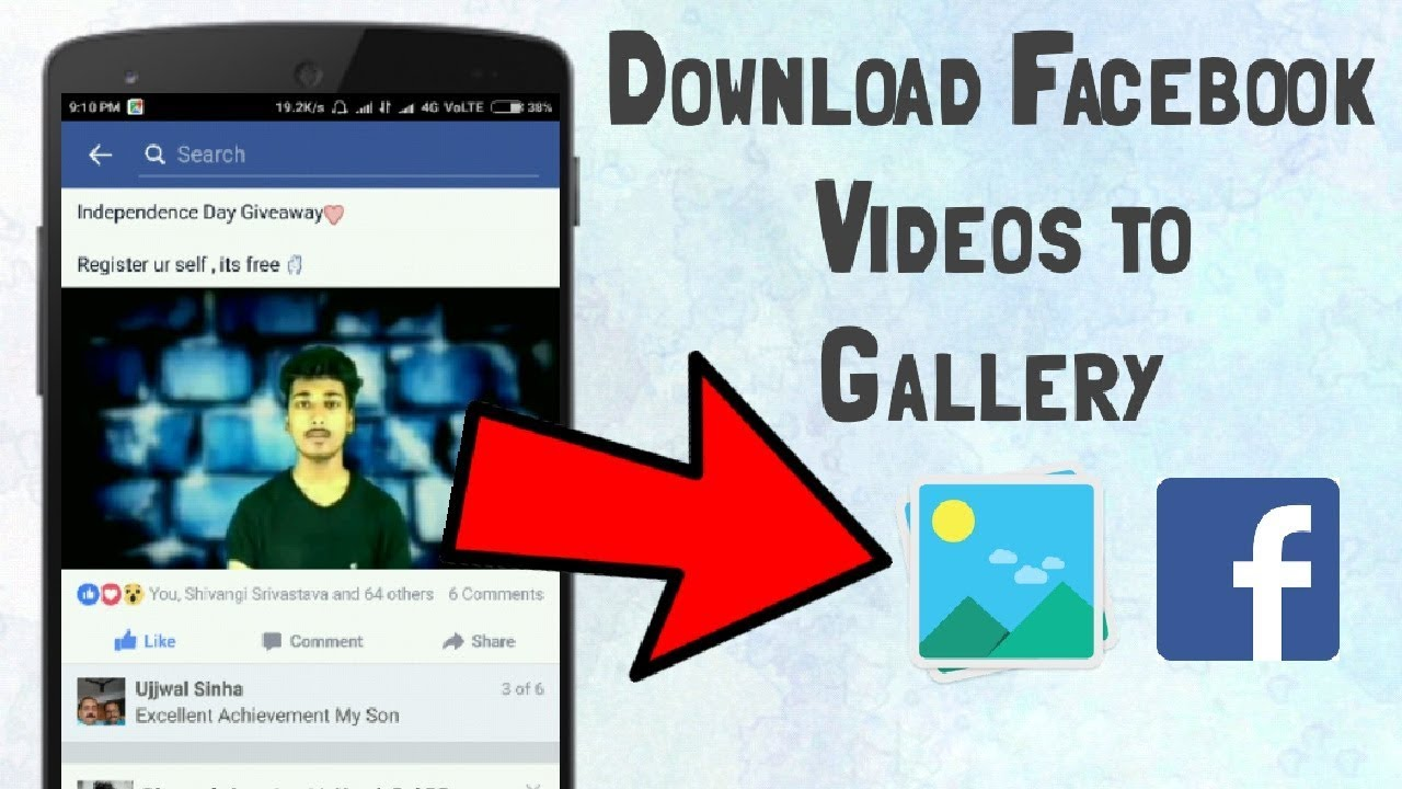 How to download facebook video in phone gallery