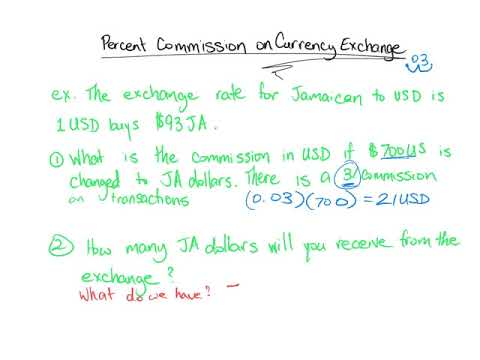 Commission On Currency Exchange