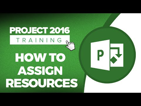 Microsoft Project 2016 Tutorial - How To Assign Resources In MS Project 2016