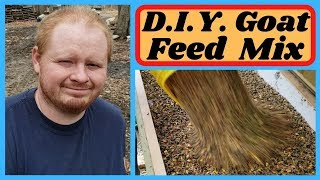 How to mix goat feed