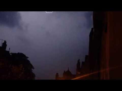 Perth Scotland thunderstorm 1:45am until 3am