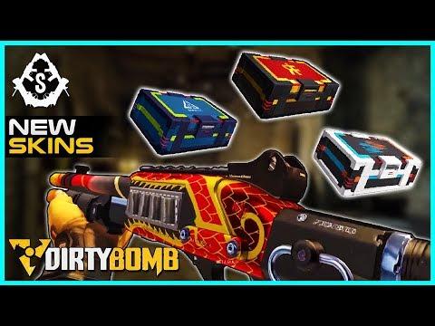 NEW Weapon Skin Cards & Merc Decks | Dirty Bomb
