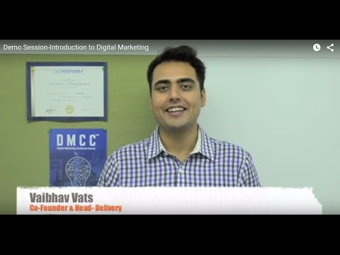 Demo Session-Introduction to Digital Marketing