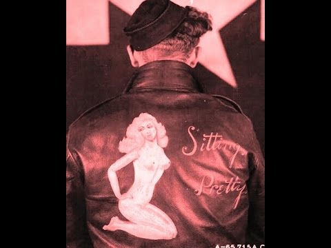 WWII NOSE ART PAINTED ON LEATHER PILOTS JACKETS! AIRPLANE AAC ARMY AIR CORPS PINUPS