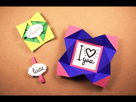Origami LOVE Card | POP-UP Cards | DIY Projects