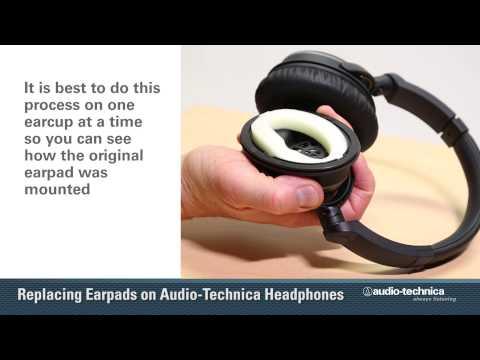 Replacing Earpads On Audio-Technica Headphones