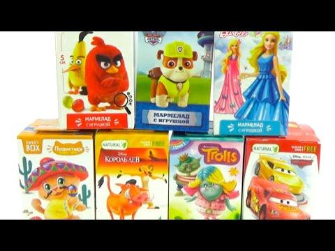 Сюрпризы и игрушки из любимых мультиков для детей