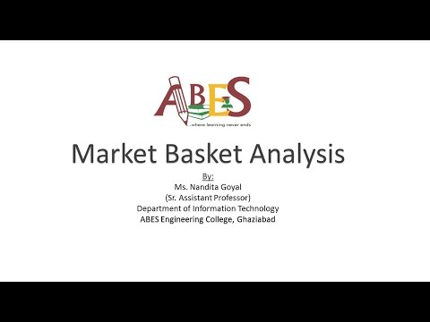 Market Basket Analysis by Ms. Nandita Goyal [Data Mining]