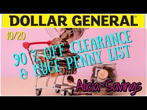 10/20 Penny List & HUGE 90 % OFF Seasonal Clearance / Dollar General Penny Shopping List & Markdowns