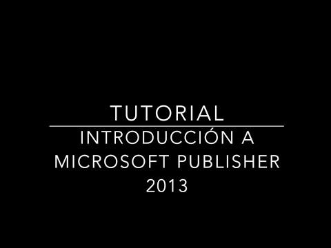 Tutorial Microsoft Publisher 2013 EDPE 3129