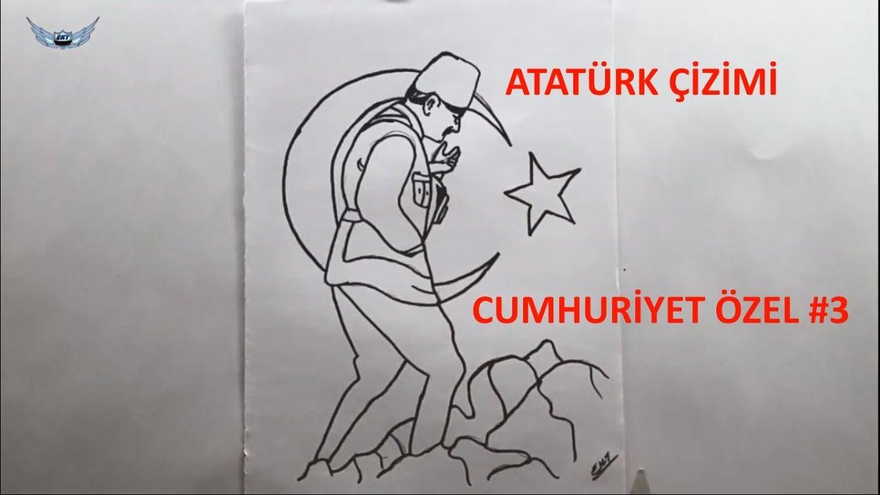 Ataturk Resmi Nasil Cizilir 3 29 Ekim Cumhuriyet Bayrami Cizimi
