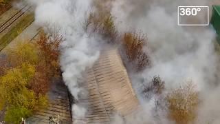 Пожар на Южнопортовой улице на юге Москвы