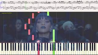 Love On The Brain - Rihanna (Ноты и Видеоурок для фортепиано) (piano cover)