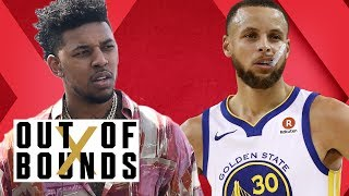 Steph Curry Cooks Rockets; Gilbert Arenas on Nick Young Wearing Hibachi Shoes | Out of Bounds