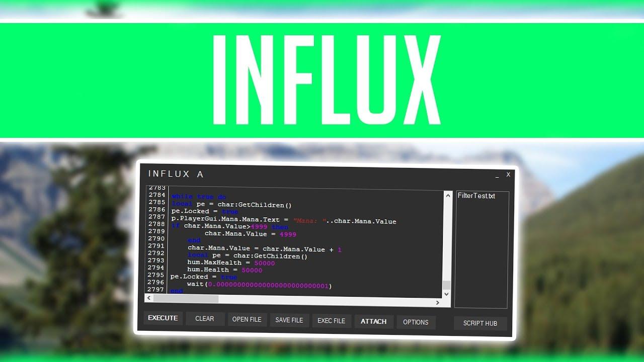 Influx Insane Roblox Hack Exploit Super Op Script Executor