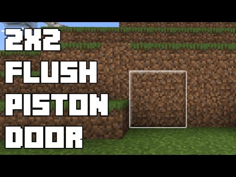 Minecraft Bedrock Simple Flush Piston Door