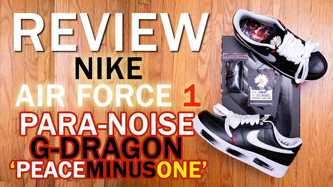 G DRAGON x PEACEMINUSONE x Nike Air Force 1 Para Noise Review, Sizing, Unboxing, and On Feet