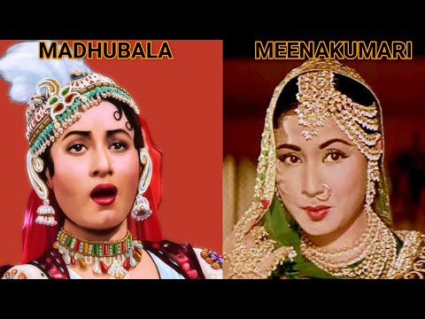 MADHUBALA OR MEENA KUMARI  ki zindagi bilkul ek jaisi thi || Striking similarities