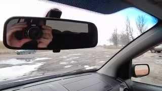 Замена сломаного салонного зеркала Форд Фьюжен на не оригинал от лада