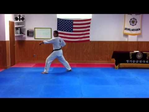King Tiger Tae Kwon Do High White Belt Hwarang Poomsae