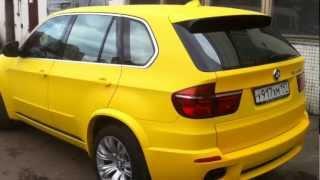 bmw X5M from yellow plasti dip(покрыли bmw x5m ( оригинальный цвет-белый) желтым Plasti Dip/, 2012-11-19T15:50:13.000Z)