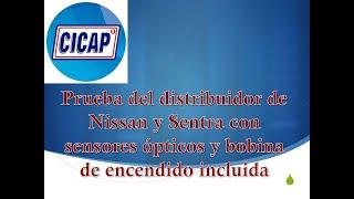 Prueba del distribuidor de Nissan y Sentra con sensores ópticos y bobina de encendido incluida
