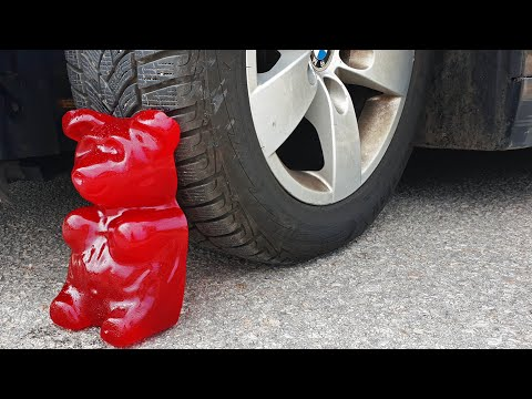 crushing-crunchy-&-soft-things-by-car!-experiment-car-vs-giant-gummy-bear-(five-pound)