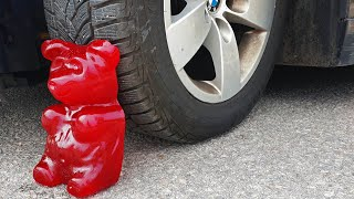 Crushing Crunchy & Soft Things by Car! EXPERIMENT CAR vs GIANT GUMMY BEAR (Five pound)