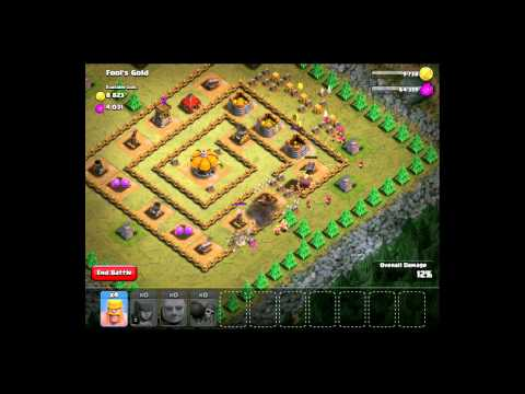 Clash of Clans Fool's Gold  How to Beat