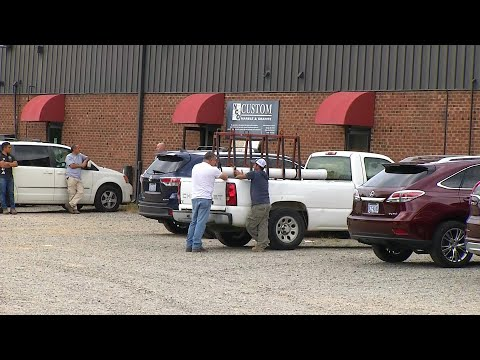 Scene video: Worker crushed to death by granite slab at Raleigh business