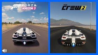 The Crew 2 Vs Forza Horizon 3 Koenigsegg Agera Sound Comparison